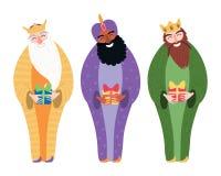 Illustration mit drei Königen stock abbildung