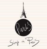 Illustration mit Eiffelturm Lizenzfreie Stockfotografie
