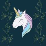 Illustration mit einem magischen Tiereinhorn lizenzfreies stockfoto