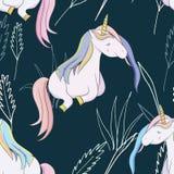 Illustration mit einem magischen Tiereinhorn stockfotos