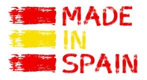 Illustration mit gemacht in Schweden, Spanien, Italien, Deutschland, Frankreich, Porzellan lizenzfreie abbildung
