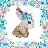 Illustration mit nettem Kaninchen lizenzfreie abbildung