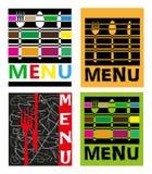 Illustration mit vier Menüs Stockfoto