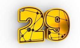 Illustration mit 29 Zahlen Lizenzfreies Stockbild