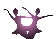 Illustration mit zwei Tänzern Lizenzfreie Stockfotos