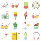 Illustration of mix things in pastel collection Royalty Free Stock Photos