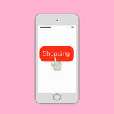 Illustration mobile d'achats Image stock