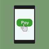 Illustration mobile de paiements Photo stock