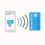 Illustration mobile de paiements Photographie stock libre de droits