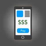 Illustration mobile de paiements Images stock