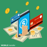 Mobile money transfer, payment, online banking, financial transaction Royalty Free Stock Photos