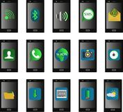 Illustration_Mobile_Phone_Icon Stockbilder