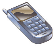 Illustration of mobile phone icon clipart Stock Photography