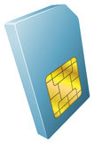 Illustration of mobile phone sim card icon Royalty Free Stock Image