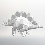 Illustration modèle de Vector de dinosaure Triangle de polygone La grille structurelle des polygones Fond créatif abstrait de con Photos libres de droits