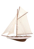 Illustration of model sailing yacht Stock Photos