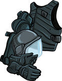 Illustration of modern body armour Royalty Free Stock Images