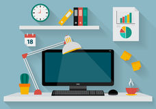 Illustration of modern business office Royalty Free Stock Photography