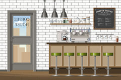 Illustration of a modern coffeeshop Stock Photography