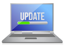 Illustration of modern computer update Royalty Free Stock Images