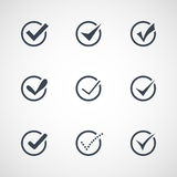Illustration of modern confirm icons set Stock Photo