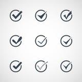 Illustration of modern confirm icons set. Illustration of modern vector confirm icons set Stock Photo