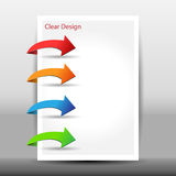 Illustration of modern design template with arrows Royalty Free Stock Images