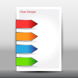 Illustration of modern design template with arrows. Vector illustration of modern design template with arrows Royalty Free Stock Images