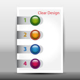 Illustration of modern design template with arrows Stock Photography