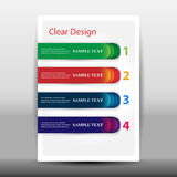 Illustration of modern design template with arrows Stock Images