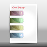 Illustration of modern design template with arrows Royalty Free Stock Photo