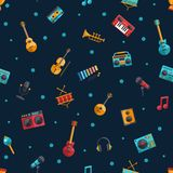 Illustration of modern flat design musical Royalty Free Stock Image