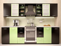 Illustration of modern kitchen interior Stock Photo