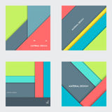 Illustration of modern material design. Vector background Stock Photos