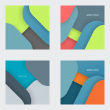 Illustration of modern material design. Vector background Stock Images