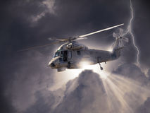 An illustration of a modern military helicopter Royalty Free Stock Images
