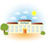 Illustration of a modern school. School building Royalty Free Stock Photo