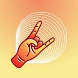 Illustration of a modern design, Hand Rock. Illustration in modern style, Hand Rock Stock Photography