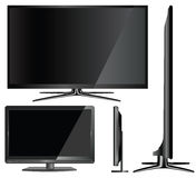 Illustration of Modern TV on White Background Royalty Free Stock Photo