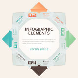 Illustration moderne d'Infographic d'options de nombre de style d'origami Photo stock