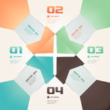 Illustration moderne d'Infographic de style d'origami Photographie stock