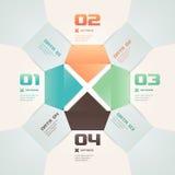 Illustration moderne d'Infographic de style d'origami Image libre de droits