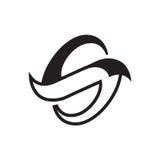 Illustration moderne de l'initiale S Photo stock
