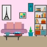 Illustration moderne de vecteur de salon Photos stock
