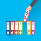 Illustration moderne de vecteur de style plat de conception Dossier avec les politiques de label illustration de vecteur