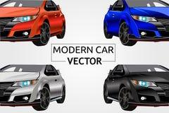 Illustration moderne de vecteur de voiture de sembler avant illustration de vecteur