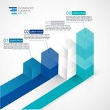 Illustration moderne du vecteur 3D infographic pour des statistiques, l'analytics, des rapports de vente, la présentation et le w Photos libres de droits