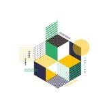 Illustration moderne géométrique abstraite de vecteur de fond Photos libres de droits