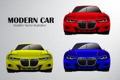 Illustration moderne réaliste de vecteur de voiture illustration stock