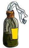 Illustration of Molotov cocktail bomb stock illustration